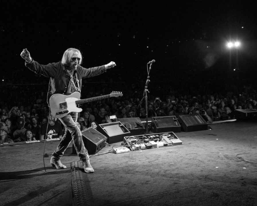 Tom Petty on a stage