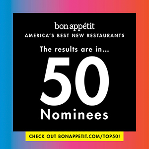 Bon Appétit America's Best New Restaurants Logo