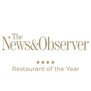 The News&Observer Restaurant of the Year in gold