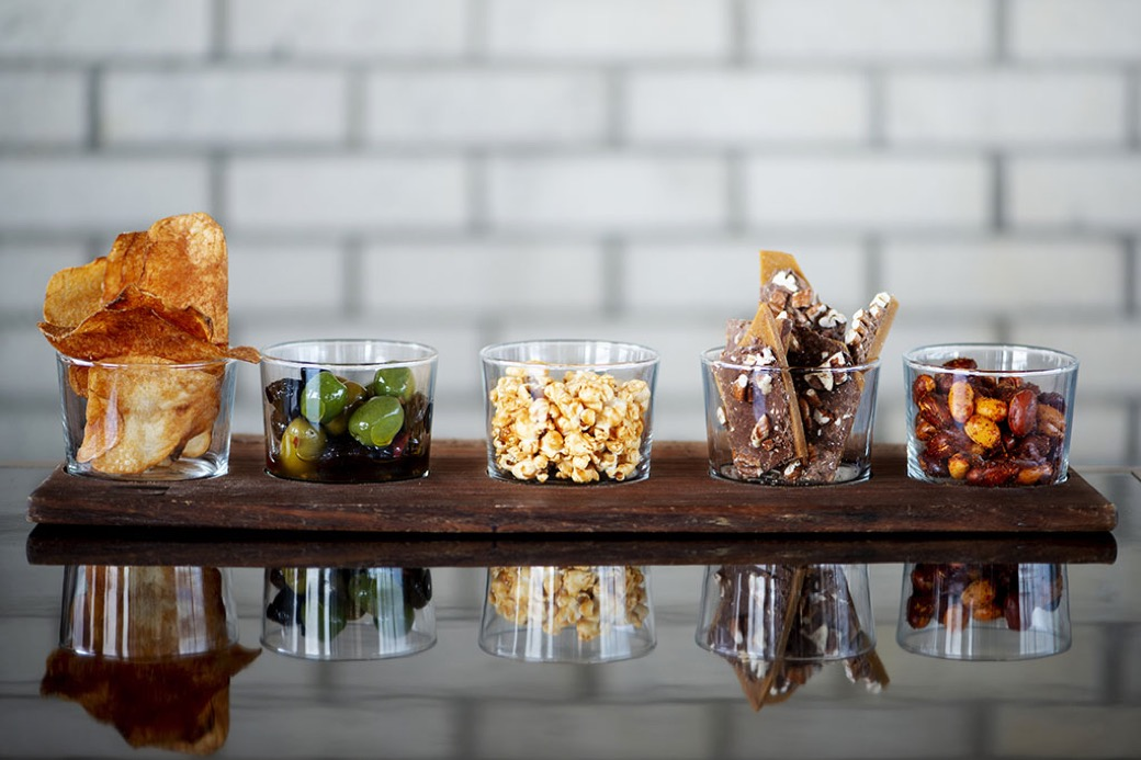 Snack Tray on wooden board at our Durham boutique hotel restaurant